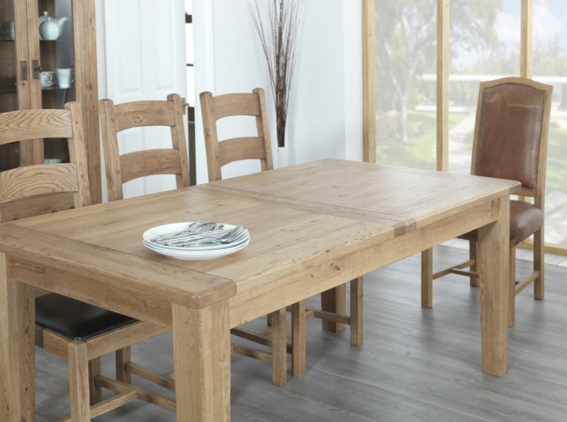 oak kitchen table cabinets honolulu carlton rustic manor dining extending 150cm