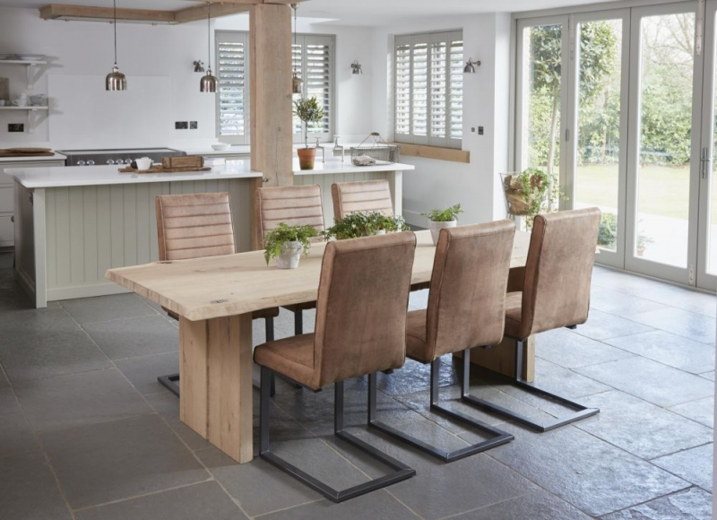 oak kitchen table dornbracht faucet corndell mill waxed rectangular dining with wooden legs request a callback