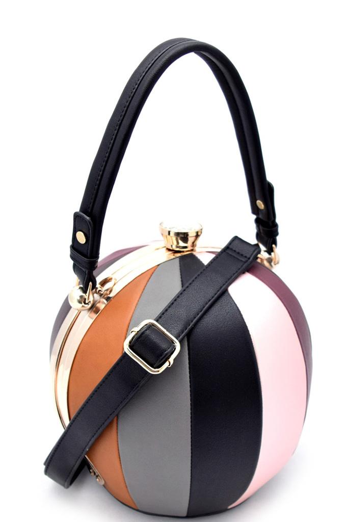 LW2038S BLACK Unique Ball Shape Fashion Bag