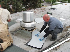 commercial roof foaming