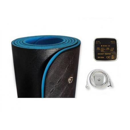 pack tapis de yoga et fitness de mise a la terre earthing testeur de prise de terre