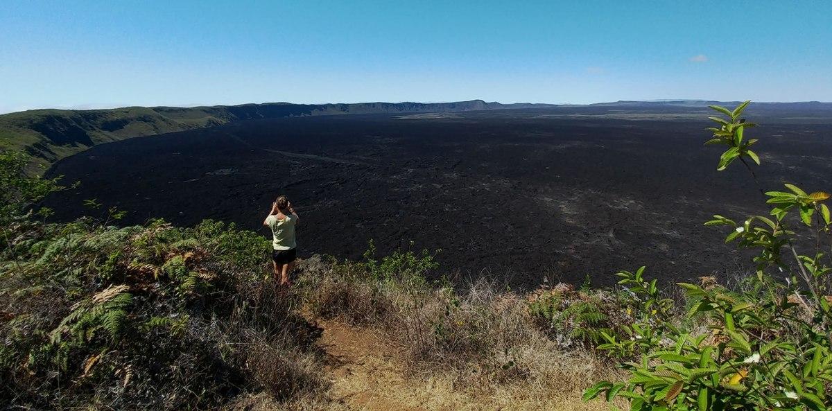 Sierra Negra Volcano from Isabela