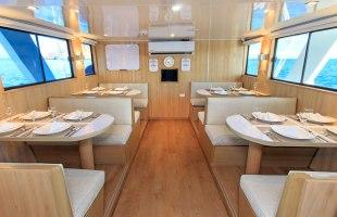 Aqua Yacht dining room