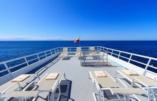 Galapagos cruise Aqua Yacht terrace