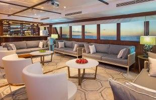 Lounge area on Odyssey Yacht