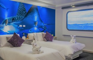 Cabin with simple beds on Camila Yacht