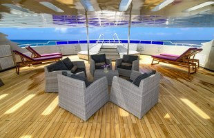 Galapagos cruise Camila yacht terrace