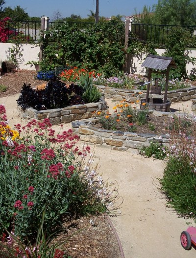 Raised beds and DG path