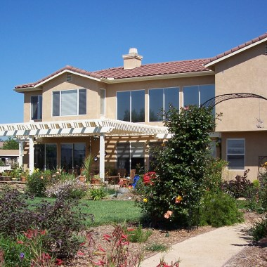 A new shade structure makes the patio more livable.