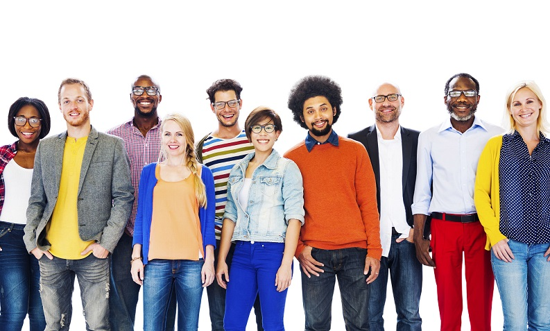 49843785 - gruop of diverse people standing together concept