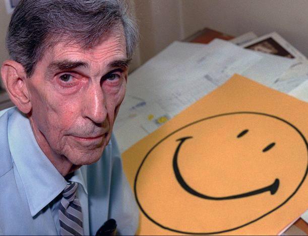 """Harvey Ball, primer """"creador"""" conocido del smiley."""