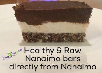 Healthy Raw Nanaimo Bar from Nanaimo