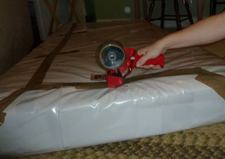 Cover With Old Sheets And Blankets To Keep Dust Moisture Away If Possible Avoid Using Thick Plastic Covers On Your Bed As These Are More Likely