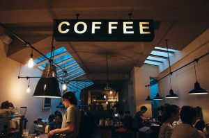 A coffee shop which is a good place for making friends in a new city.