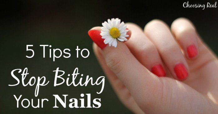 These 5 tips from an admitted nail biter will encourage you in your journey to break the habit and stop biting your nails for good.