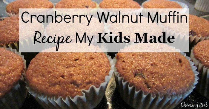 This cranberry walnut muffin recipe is delicious and so easy to make that even your kids can make these muffins with just a few basic kitchen skills.
