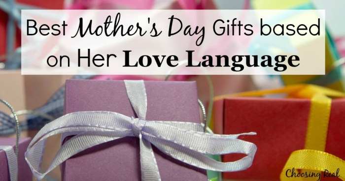 Help your husband and kids with Mother's Day gifts by showing them what they can do for you to make you feel the most loved based on your love language.