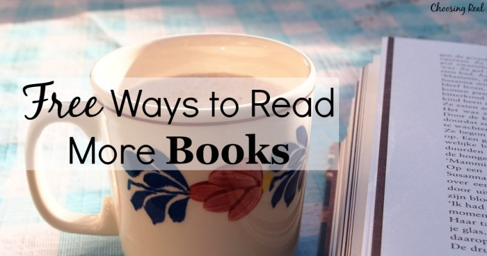 You can make reading a priority without spending lots of money on books. I have 5 free ways you can read more books without buying more books.
