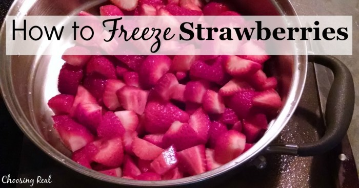 When strawberries are abundant and available at low prices, I use this process for how to freeze strawberries to save money throughout the year.