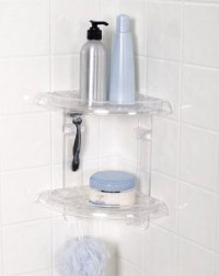 Plastic corner shower shelves  ChoozOne