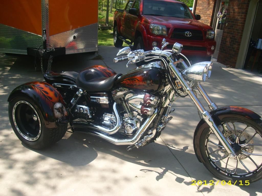 Harley Dyna Trike 18 Degree Rake Kit w 4 os Rear End Lowered 2