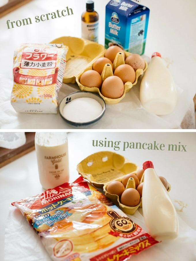 Japanese pancakes ingredients