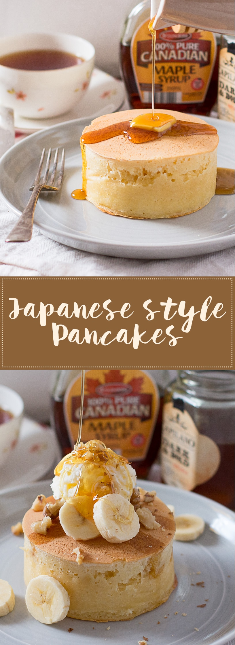 Japanese-style-pancakes-banana-topping-