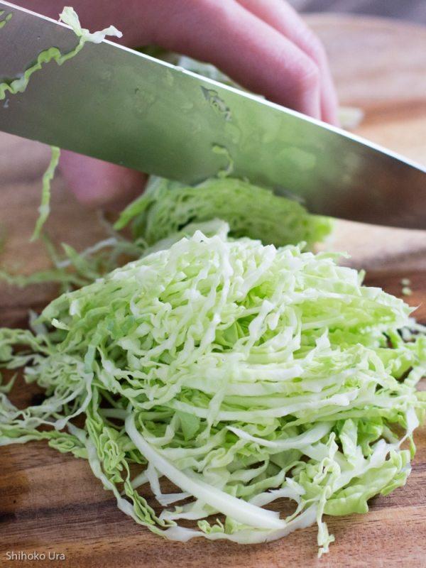 Okonomiyaki cabbage_