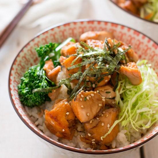 Teriyaki Salmon Rice Bowls 照り焼きサーモン丼