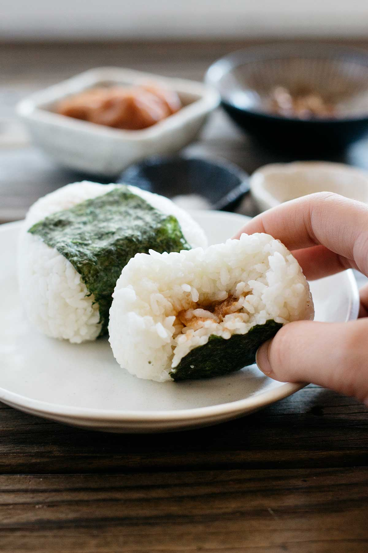 You Can Add Different Fillings To Onigiri, My Daughter's Favourite Is Cooked  Salmon The Two Ingredients I Used For This Recipe Are Two Of Themon  And