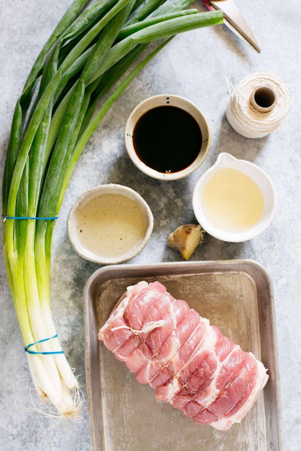 ingredients of the ramen pork Chashu