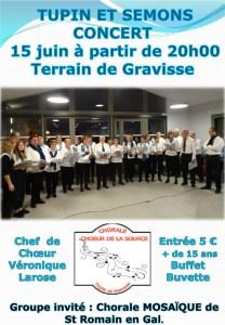 Affiche du concert annuel de la chorale le Choeur de la Source