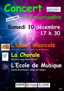10 décembre 2016 : Affiche de la Sainte Cécile à St Just St Rambert