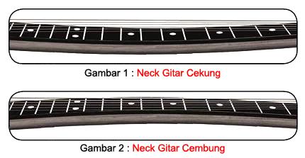 cara memperbaiki neck gitar bengkok