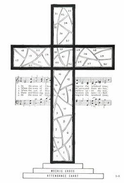 CGS9 Mosaic Cross Attendance Chart