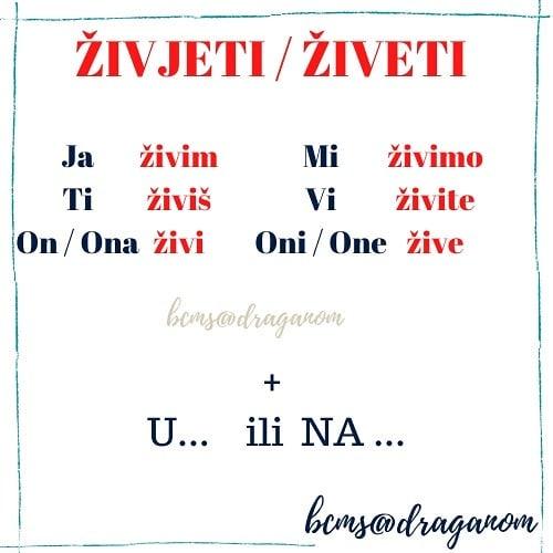 czasownik żyć w języku chorwackim