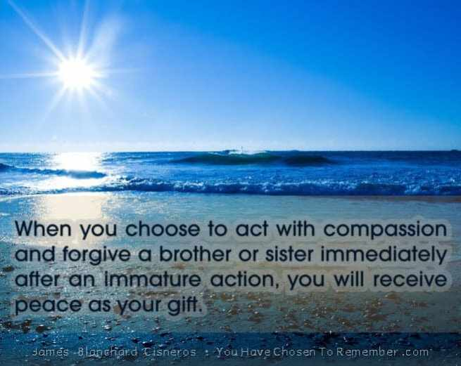 Inspirational Quote About Compassion by James Blanchard Cisneros, author of spiritual self help books.