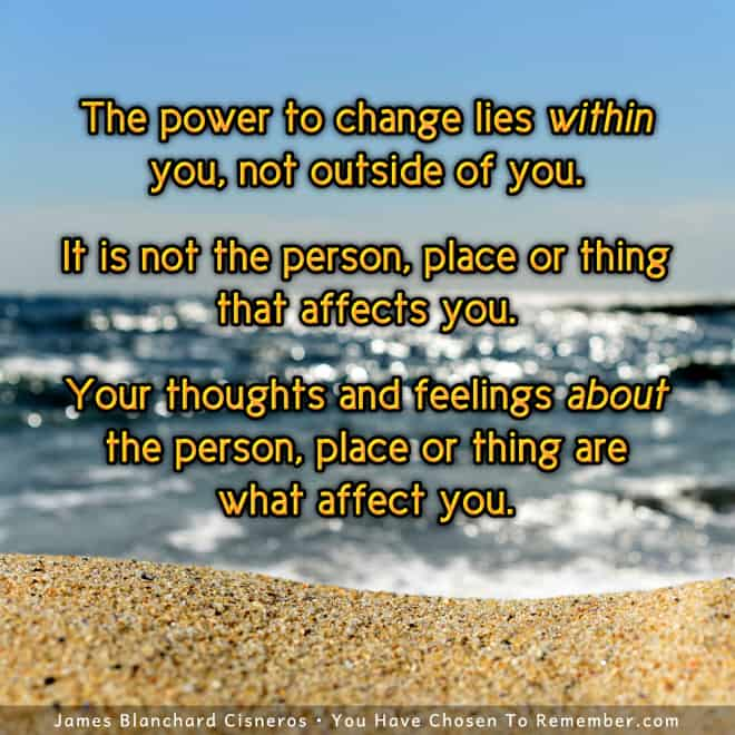 Inspirational Quote on the Power of Our Thoughts and Feelings