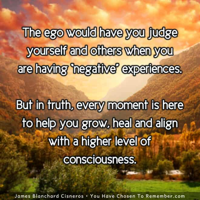 Inspirational Quote about Negative Experiences Really Helping us Grow and Heal