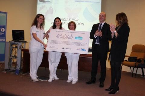 Durante la sesión de enfermería en la que han presentado el caso premiado.