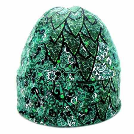 GLIDE Sparkle Print: Peacock Green