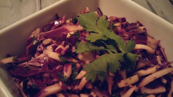 Spicy Red Cabbage Slaw