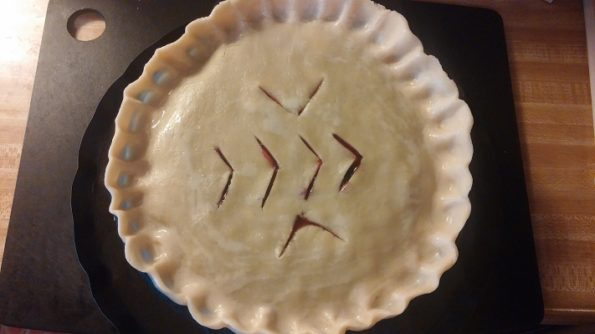 Homemade Fresh Blueberry Pie - Ready for Oven