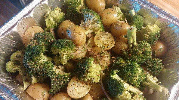 Grilled Lemon Infused Potatoes with Broccoli