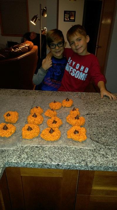 Pumpkin Marshmallow Krispy Treats