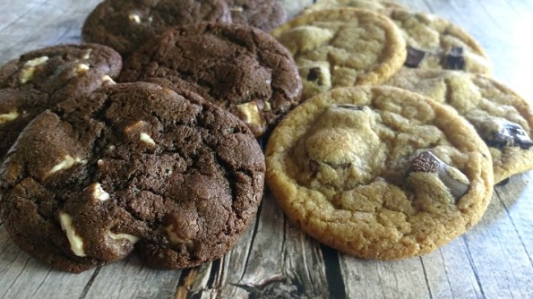 Browned Butter Chocolate White Chocolate Chunk Cookies