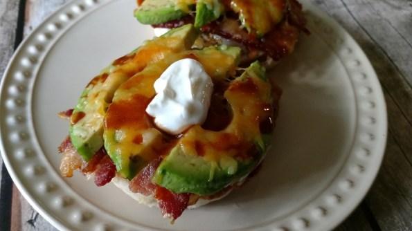 Open-Faced Avocado Bacon Egg Breakfast Sandwiches