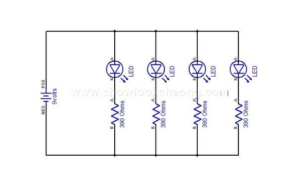 led in parallel 3 led in series there are