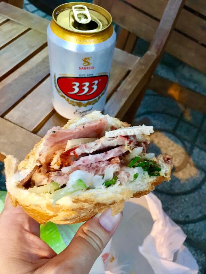 Bánh Mì Huỳnh Hoa Banh Mi Sandwich HCMC Ho Chi Minh City 333 Beer
