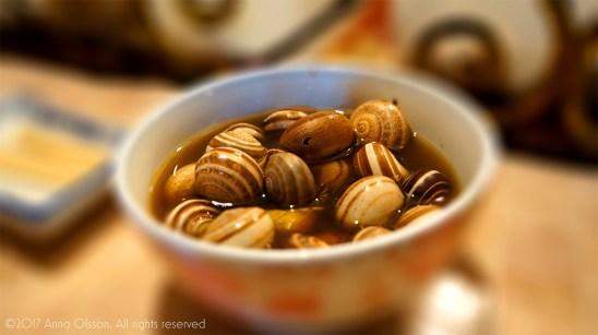 A nice bowl of snails.